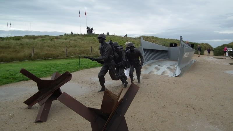 A Normandy Beach Landing Monument