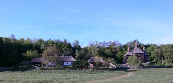 Typical Ukrainan farmhouses