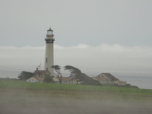 A Monterey Bay Lighthouse in the fog