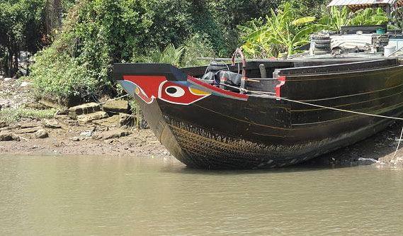 Mekong River - Evil Eyed Boat