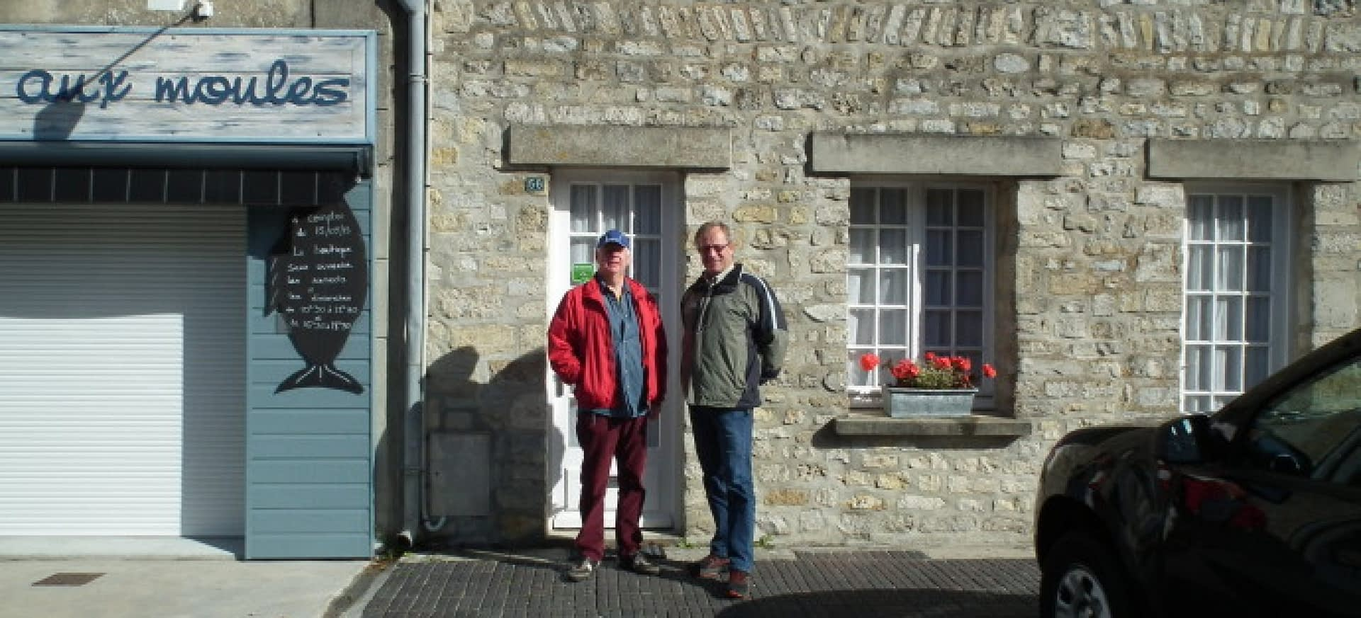 Outside the Band of Brothers House in Ste Marie du Mont