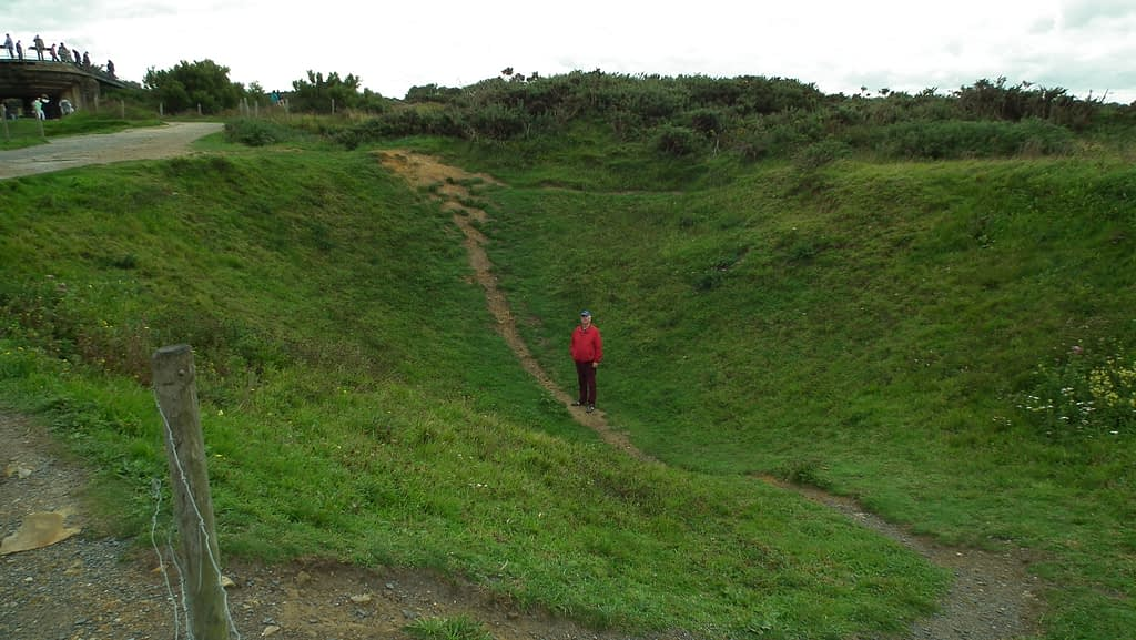 Bomb Crater at the Pointe de Hoc