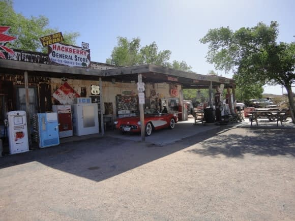A Route 66 Gas Station ... and tourist shop